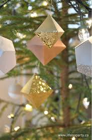 paper geometric christmas ornaments life is a party