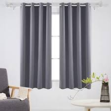 Amazon Thermal Drapes Amazon Com Deconovo Solid Room Darkening Curtains Thermal