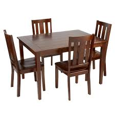 plank dining room table plank top wood dining set 5 piece christmas tree shops andthat