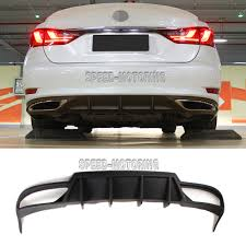 lexus cars origin unpainted pu rear bumper lip diffuser spoiler bodykit fit for 2013