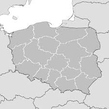 Map Poland File Poland Map Simple With Voivodeships Png Wikimedia Commons