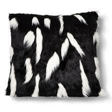 target kingston black friday nate berkus faux fur floor pillow black and white target home