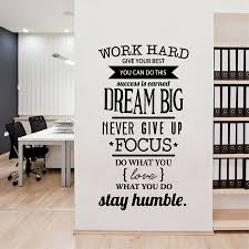 popular quotes wall stickers office buy cheap quotes wall stickers work hard dream big quote wall sticker office inspirational decal removable pvc wall stickers china
