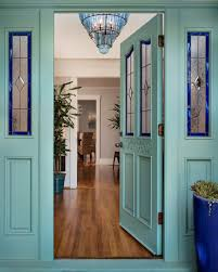 Solid Timber Front Door by Photos Hgtv Blue Front Door With Stained Glass Windows Solid