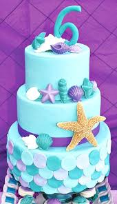 little mermaid birthday party ideas mermaid cakes ariel and ombre