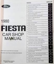 1980 ford fiesta car shop manual built in and 50 similar items