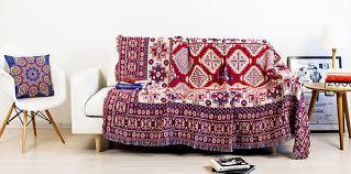 couverture canapé bohème chenille couverture canapé décoratif housse jette sur canapé