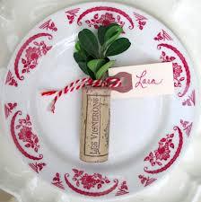 christmas place cards corks greens u0026twine