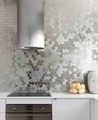 hexagon tile kitchen backsplash wonderful glass kitchen tiles for backsplash white and orange