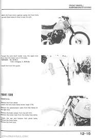 1983 1987 honda xl600r dual sport motorcycle service manual