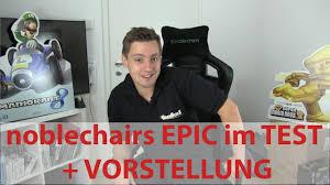 gamer stuhl kaufen noblechairs epic series gaming stuhl test und vorstellung neuer