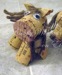 rustic pony horse wine cork ornament in chocolate brown the