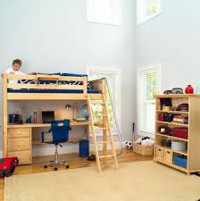 comfortable loft bed with crib underneath modern loft beds