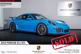 porsche 911 gt3 price 2015 porsche 911 gt3 for sale in colorado springs co p2746a