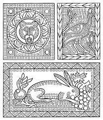 usborne roman patterns colour