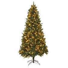 home accents holiday 9 ft pre lit led wesley spruce quick set