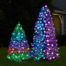 the 3d floating lightshow christmas tree hammacher schlemmer