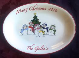 personalized christmas platter custom christmas platter personalized platter gift