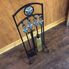 uniflame texas star 5 piece fireplace tool set model 4738