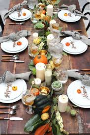the thanksgiving table set up with midnight confetti