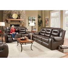 Loveseat Recliners Titan Living Room Reclining Sofa U0026 Loveseat Chocolate 71406