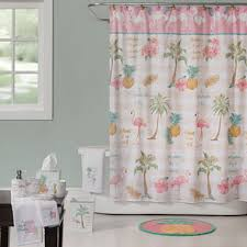 Flamingo Shower Curtains Saturday Knight Flamingo Bath Collection Jcpenney