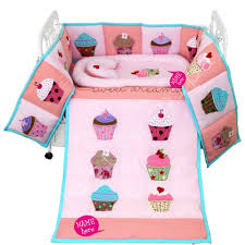 Cupcake Crib Bedding Set Cupcake Crib Bedding Set 5 Pc