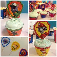 Birthday Party Ideas Homemade Paw Patrol Diy Birthday Cupcakes Just Print Cut And Put