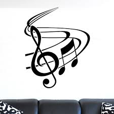 nice treble clef with swish musical wall sticker wall decals nice treble clef with swish musical wall sticker