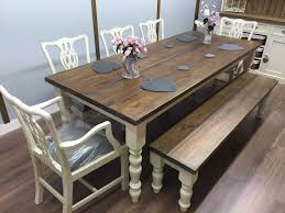 pine bench for kitchen table rustic pine farmhouse dining table and 5 chairs bench shabby chic