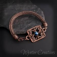 bracelet wrap wire images Philippa agate filigree and viking knit wire wrap bracelet jpg