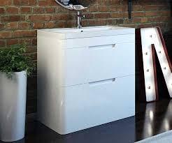 Free Standing Vanity Milano White 800 Freestanding Vanity Unit With Sink Bathrooms Com