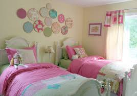Girls Bedroom Pillows Bedroom Wall Decoration Curtain Curtain Rod Night Lamp White Bed