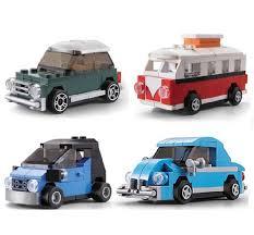 volkswagen mini decool technic city creator mini smart volkswagen beetle figure