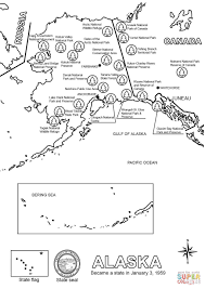 Maps Of Alaska by Map Of Alaska Coloring Page Free Printable Coloring Pages
