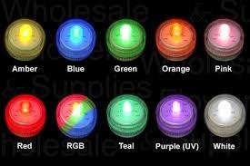 led tealight led underwater multi color led light
