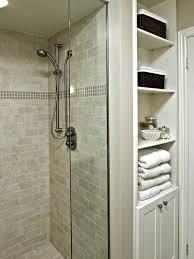 Small Master Bathroom Ideas Pictures Colors Built In Linen Closet Idea Small Bathroom Design Pictures