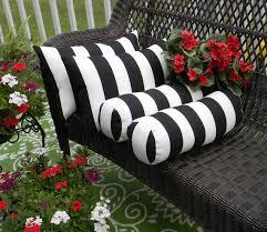 set of 4 black white stripe rectangle u0026 neckroll bolster