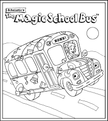 magic bus coloring pages download print free