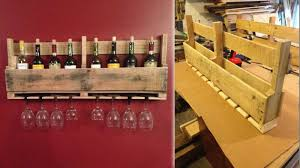 how to make a wine bottle l build this pallet wine rack to store your favorite bottles and glasses
