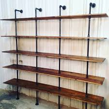 modern industrial shelf unit pipe bookshelf industrial shelves