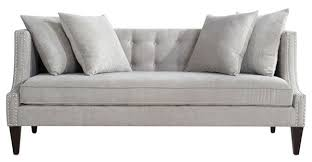 Grey Silver Sofa Caroline Recessed Tuxedo Sofa Silver Grey Jennifer Taylor Home