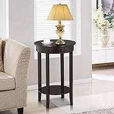 amazon com topeakmart wood coffee table tall bedside nightstand
