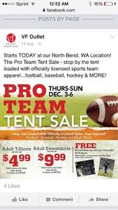 Vanity Fair North Bend Seahawks Vf Outlet North Bend Pro Team Tent Sale North Bend Wa