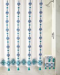 Aqua Blue Shower Curtains John Robshaw Aloka Blue Shower Curtain