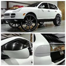 white wrapped cars a ridonkulous porsche cayenne wrapped in storm trooper flat white