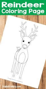 free printable reindeer activities cute reindeer coloring page for kids free printables free and craft