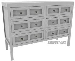 free plans to build an apothecary console table from sawdust