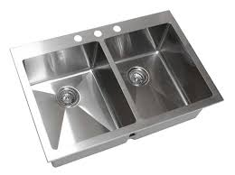 top mount stainless steel sink 33 inch top mount drop in stainless steel double bowl kitchen sink