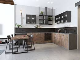 Open Concept Kitchen by Small Apartments With Open Concept Layouts Design By Style Dark